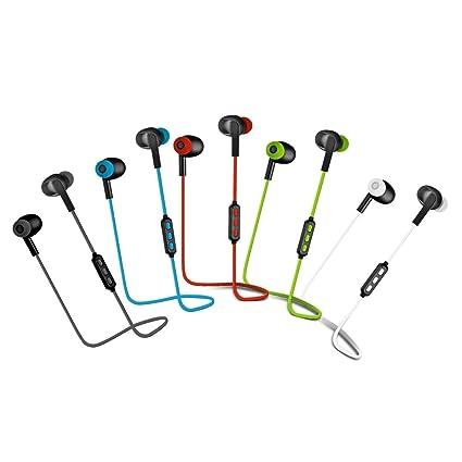 Woxter Airbeat BT-5 Green- Auriculares estreos inalmbricos deportivos(Bluetooth 4.2, A2DP1.2, HFP1.6, AVRCP1.4, HSP,Conexin de voz NFC multipunto, ...