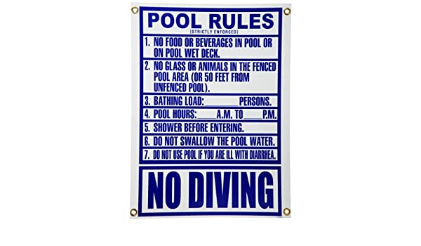 Pentair R234800 Florida Pool Rules - Cartel de Billar ...