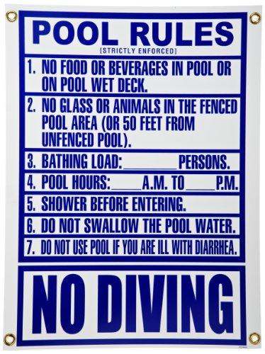 Pentair R234800 Florida Pool Rules Pool Sign