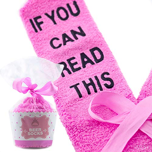 Luxury Beer Socks with Cupcake Packaging - If You Can Read This Bring Me a Cold Beer | Funny Birthday Gifts for Women, Present for Wife, Valentine Day Gifts for Her