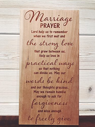 WOOD DECOR Marriage Prayer Wall Plaque Laser Engraved Personalized Custom Wood Sign