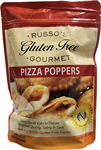 (Russo's Gluten Free Pizza Popper 10oz, (Pack of 3) The Best Tasting Pizza Poppers in Market w/Fresh Mozzarella Cheese wrapped - Frozen Appetizers,Bite Size Cheese Pizza NYC Style,Home Made Hot Popper)
