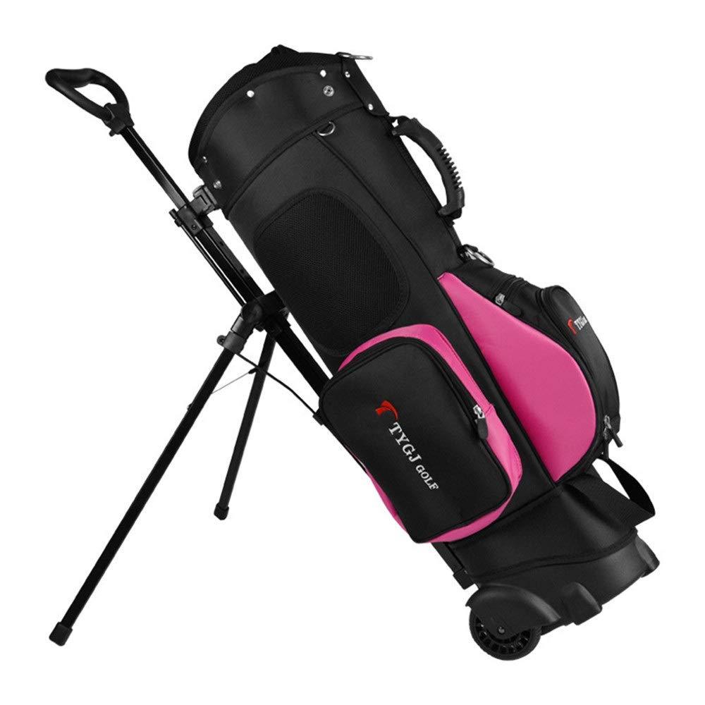 超軽量 大容量 ゴルフ クラブ ケース 多機能のゴルフバッグの滑車はブラケット13クラブが付いている二重肩を握ることができます (色 : C2, サイズ : 123*19.5*23cm) 123*19.5*23cm C2 B07SPWM5RJ