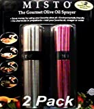 Misto The Gourment Olive Oil Sprayer 2-Pack Silver & Purple