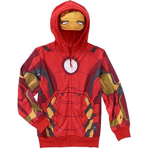 Marvel Big Boys' Iron Man Costume Hoodie Jacket S(8) ()