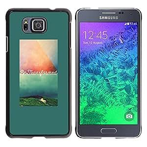 YOYOYO Smartphone Protección Defender Duro Negro Funda Imagen Diseño Carcasa Tapa Case Skin Cover Para Samsung GALAXY ALPHA G850 - texto verde verde azulado cita de motivación