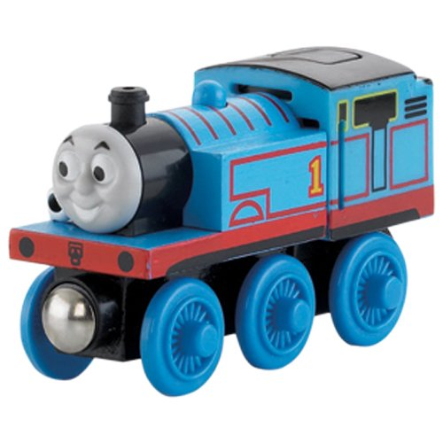 Wooden Thomas Tank Engine - Thomas & Friends Fisher-Price Wooden Railway, Talking Thomas - Battery Operated