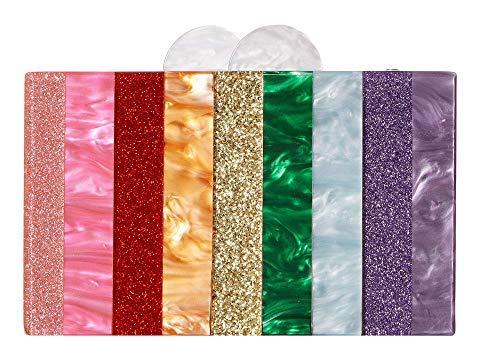 Bari Lynn Rainbow Acrylic Bag