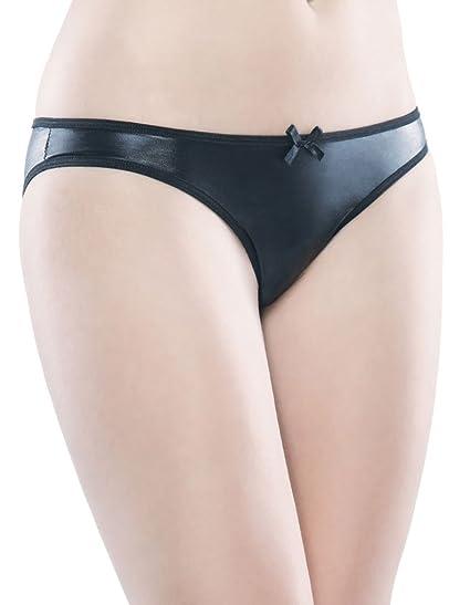 5a4489095c91 Amazon.com: Plus Size Lingerie Sexy Black Wet Look Crotchless Panty ...