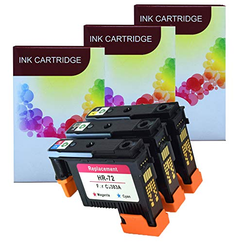 Komada 3X HP72 printheads HR-72 for C9384A with New Updated Chips Compatible with HP Designjet T610 T620 T770 T790 T1100 T1120 1200 T1300 T2300
