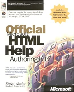 Book Official Microsoft HTML Help Authoring Kit by Steve Wexler (1998-02-01)