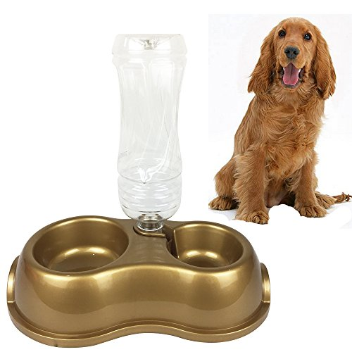 Westspark Pet Water Feeder Self-Dispensing Food Gravity Replendish Automatic Waterer Simply Dog Cat Bowl Support