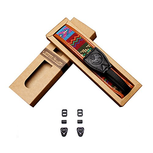 VKO Camera Shoulder Neck Strap Belt Compatible for Sony A6500 A6400 A6300 A7SII A7S A7 A7II A68 A77II A3000 A6000 A5100 NEX-6 A99 RX1 RX1R A7R A7RII RX10II RX10III A99 A99II Cameras Luxury Vintage (Vintage Camera Strap)