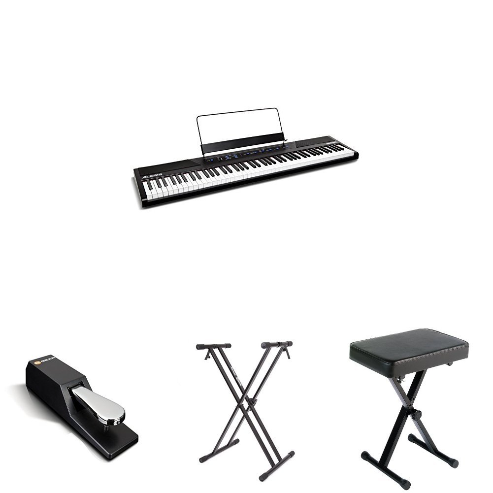 Alesis Recital - 88-Key Beginner Digital Piano/Keyboard with Full-Size Semi-Weighted Keys, Power Supply, Built-In Speakers and 5 Premium Voices (Amazon Exclusive) inMusic Brands Inc.