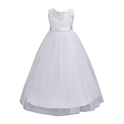 Hemlock Kids Girls Pageant Princess Dress Wedding Bridesmaid Dresses Toddler Girls Lace Formal Dress (11