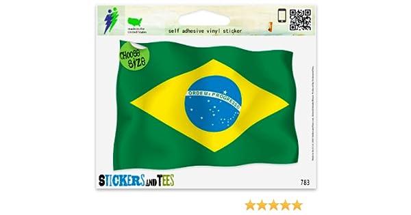 "Brazil Flag Oval car window bumper sticker decal 5/"" x 3/"""