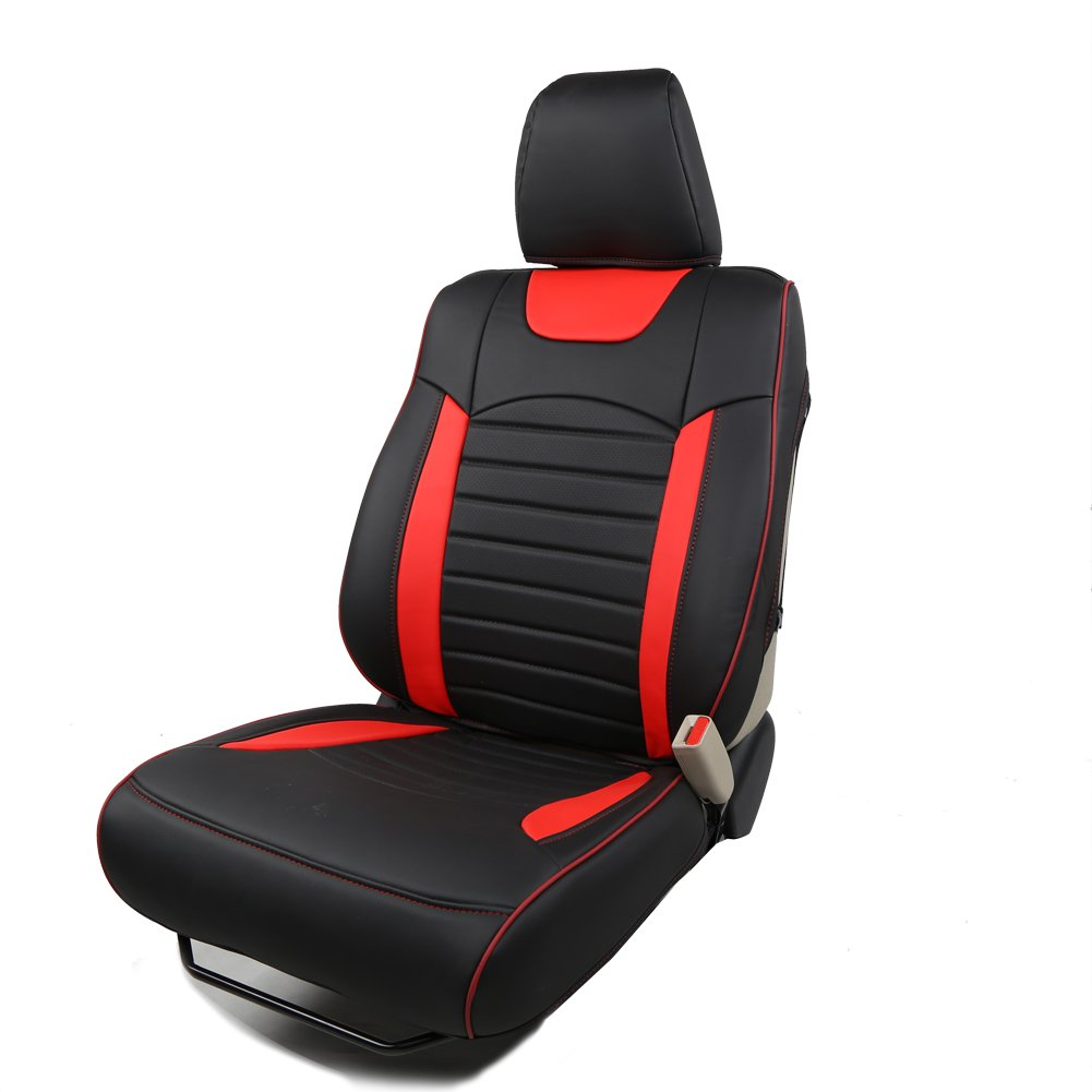 Red And Black Seat Covers - Velcromag