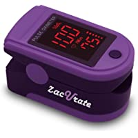 Zacurate Pro Series 500DL Fingertip Pulse Oximeter Blood Oxygen Saturation Monitor With Silicon Cover, Batteries…