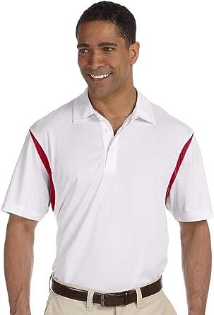 Harriton Men/'s Contrast Polo Shirt XX-Large WHITE// MAROON