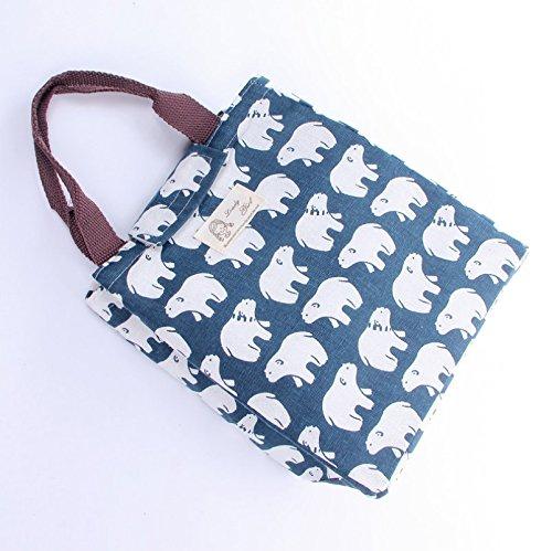 Pengmma tela della borsa a mano all' aperto picnic Storage Bag (Polar Bear modello)