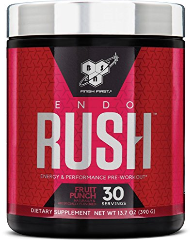 BSN Endorush Pre-Workout Powder, Energy Supplement for Men and Women, 300mg of Caffeine, with Beta-Alanine and Creatine, Fruit Punch, 30 Servings (Best Time Of Year To Go To Greek Islands)