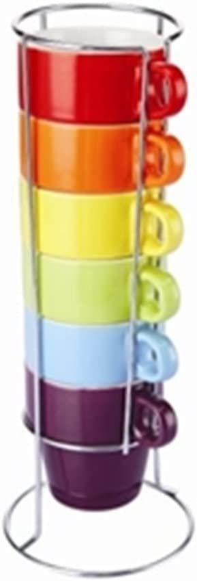 Zodiac 6 teiliges Espresso Mini Tassen Set 110ml: