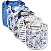 Rosie Pope Baby Bibs 5 Pack, Blue Guitar, One Size