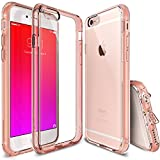 Ringke Fusion iPhone 6S Case with Clear Shock Absorption and Drop Protection TPU Bumper for Apple iPhone 6 2014 / 6S 2015 - Rose Gold Pink