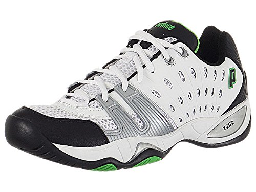 Prince Men's 8P984149-T22 Tennis Shoe,White/Black/Green,9.5 M (Prince Mens Tennis Shoes)