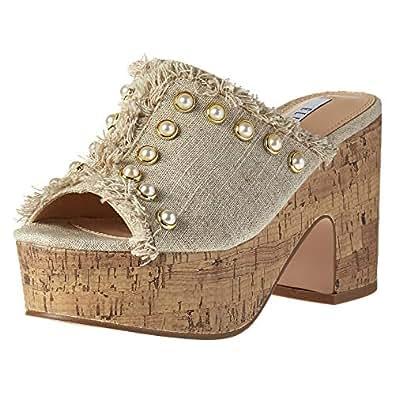 Elle Heel Sandals for Women - Beige