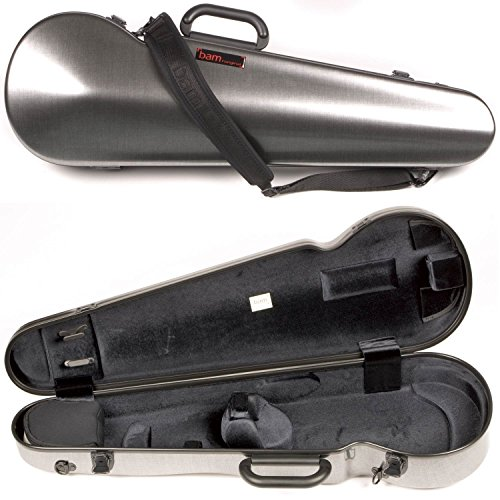 - Bam France 2002XL Contoured Hightech Tweed-Look 4/4 Violin Case