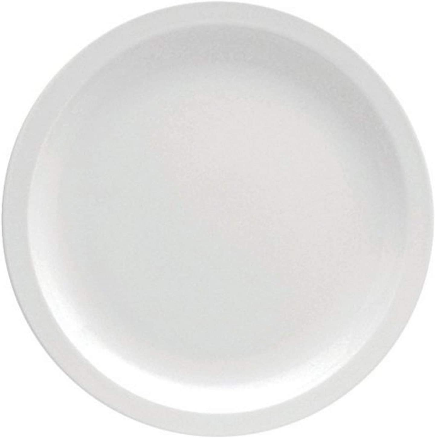 "Oneida Foodservice F8000000150 Narrow Rim Plate, 10.375"", Set of 12, Bright White Porcelain"