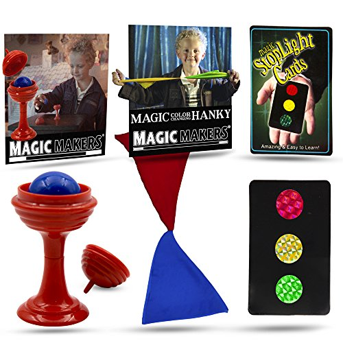 Magic Makers Color Changing Hanky, Stop Light Cards and Ball and Vase ()