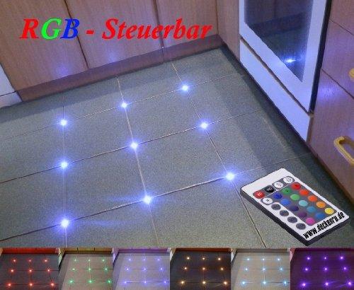 32 x piastrelle rgb led controllo bar fughe 5 mm luce illuminazione