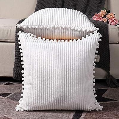 Amazon.com: Madizz - Juego de 2 fundas de almohada de pana ...