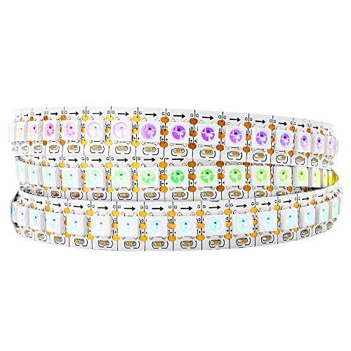BTF-LIGHTING WS2812B 144 LEDs/Pixels/m Individual Addressable Full Color led Pixel Strip Dream Color Non-Waterproof 3.2FT 1m ()