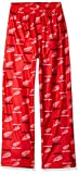 NHL Detroit Red Wings Youth Boys 8-20 Sleepwear All Over Print Pants, Medium (10-12), Red