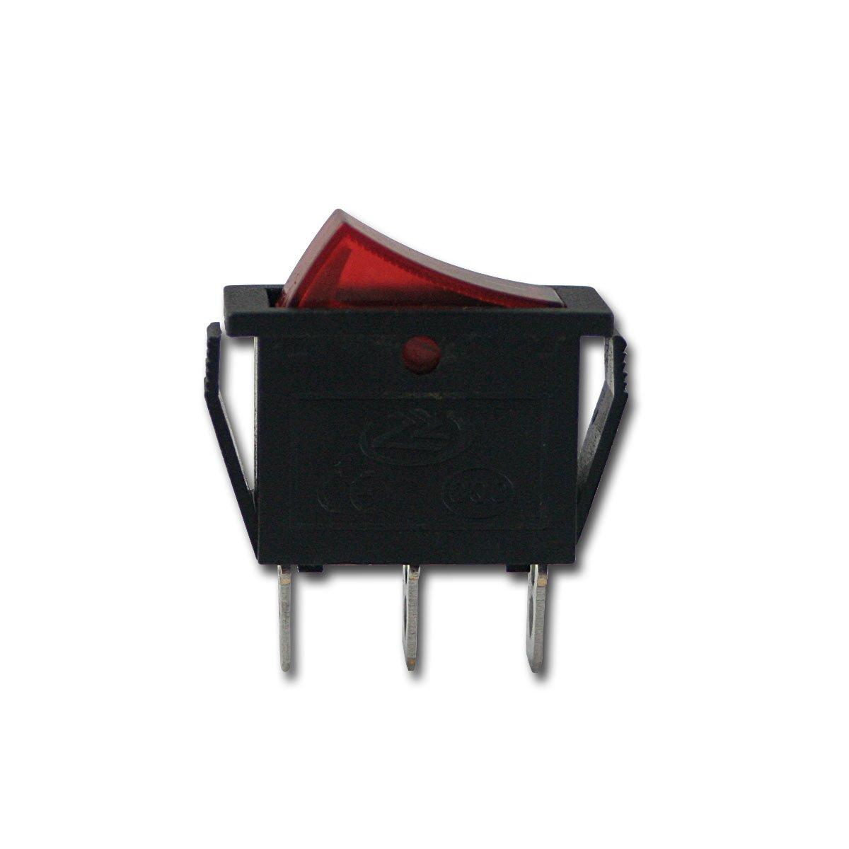 Wippschalter 1-Polig, Rote Wippe, 12V/20A Kfz: Amazon.de: Elektronik
