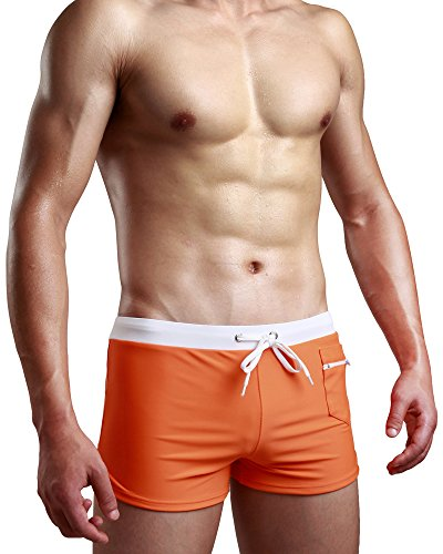 Swimsuit Men Swim Briefs Trunk Shorts Swimwear Square Leg Cut Boardshort w - Shorts Cut Swim Square