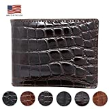 Brown Genuine Glazed Alligator Wallet - American Factory Direct - Made in USA by Real Leather Creations FBA731 BT