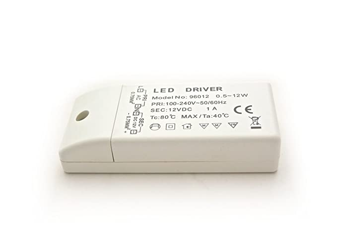 Mini LED Transformator 12V DC 1A 12W elektronischer: Amazon.de ...