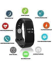 HeiterBlau Fitness Tracker Powerarmband/Sport Uhr/Smartwatch für Phone und Android mit Pulsmesser, Herzfrequenzmesser, Schrittzähler, Schlaftracker, Vibrationswecker/Geschenk