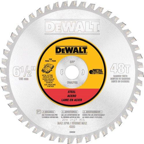 DEWALT DWA7762 48 Teeth Ferrous Metal Cutting 5/8-Inch Arbor, 6-1/2-Inch (Metal 48 Ferrous Tooth)