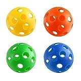 Generic YC-US2-151014-107 <8&20271> Dog Toyseball Size Set - Baseball 4pc Plastic Size - Great Wiffle Ball Dog Toy 4pc Plastic