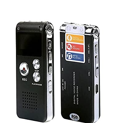 EconoLed Multifunctional Rechargeable 8GB 650HR Digital Audio Voice Recorder Dictaphone MP3 Player from EconoLed