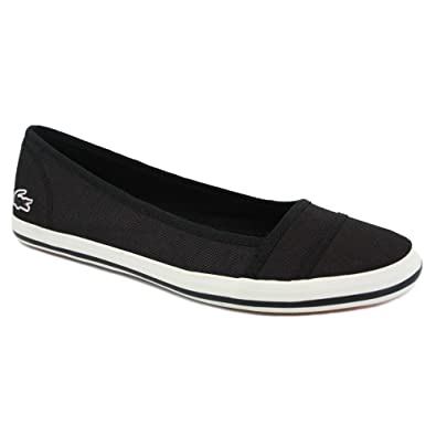 76f057d66 Lacoste Marthe Paris 3 Womens Canvas Ballerinas Black - 4  Amazon.co.uk   Shoes   Bags