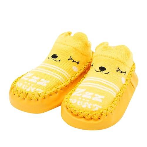 QinMM Bebé recién Nacido de Dibujos Animados Primeros Pasos Calcetines Antideslizantes Botas para niños y niñas: Amazon.es: Zapatos y complementos