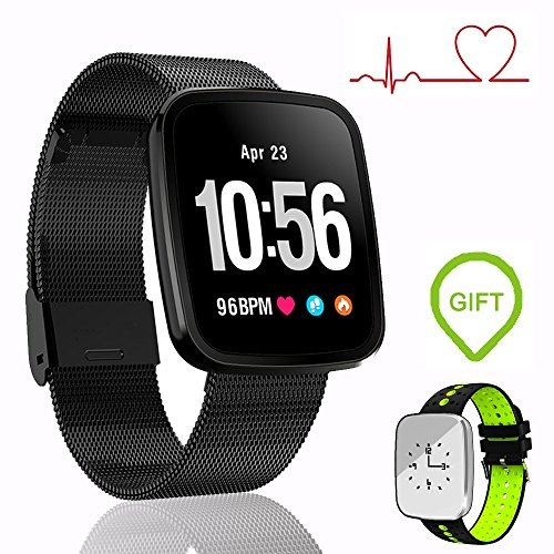 EnIceHime Smart Bracelet, Fitness Tracker with Heart Rate, IP67 Waterproof Smart Wristband Blood Oxygen Pressure Monitor, Smart Sport Watch Compatible with Android & IOS by EnIceHime
