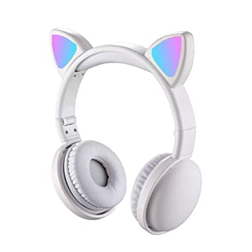 Gource Headset Foldable Cartoon Wireless Cat Ear Amazon In Electronics