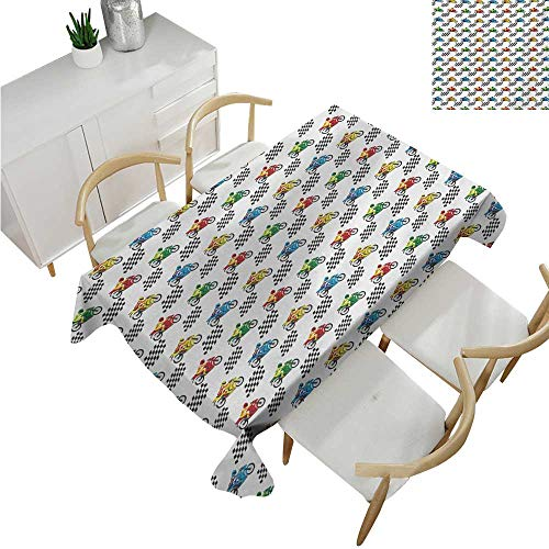 familytaste Motorcycle,Fitted tablecloths,Sports Bike with Racing Riders Among